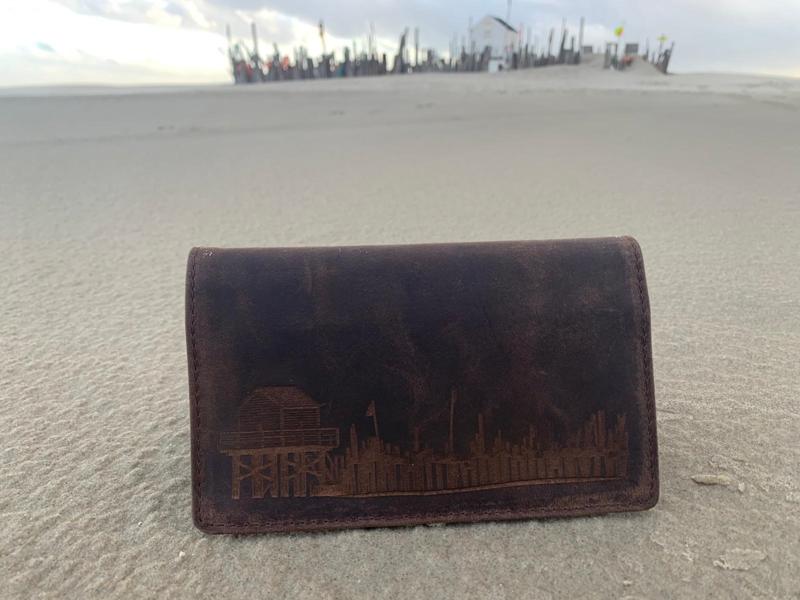 Lederen portemonnee