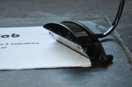 Nummerplaat verlichting  Zwart 12V gebogen 84mm breed