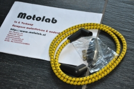Bougiekabel SET Braided hose Yellow/Black