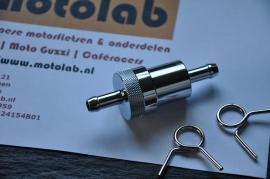 Benzinefilter Metaal & Bronzen filter  8mm aansluiting