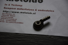 Benzine aansluiting Dellorto ALU 7.5mm o.a. BMW R90S & Guzzi's