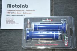 Domino | Tommaselli Handvatrubber SET 22mm Blau/Wit 125mm lang
