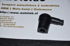 """Bougiedop """"rubber"""" Zwart  (Tbv contactpunt & Magneet onst.)"""