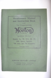 Norton Maintenance Manual and Instruction Book ORIGINEEL zgan!