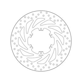 Remschijf Aprillia Brembo Oro 68B407G5