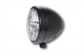 130mm Koplamp LED Mat zwart o.a. Scrambler | Caféracer | E-keur