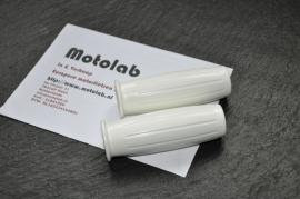Witte Handvat rubbers | Handlebar grips 1inch - Amal