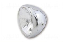 7 Inch koplamp HELDER glas Chroom Zij bevest | RENO style | H4 | E-keur