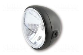 7 Inch koplamp HELDER glas MAT Zwart Zij bevest | SANTA FE  | H4 | E-keur