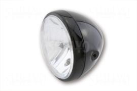 7 Inch koplamp HELDER glas GLANZEND Zwart Zij bevest | RENO style | H4 | E-keur
