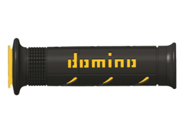 Domino | Tommaselli Handvatrubber SET 22mm Zwart/Geel 126mm lang