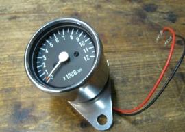 Toerenteller 60mm Mechanisch 1:4 Chroom/Zwart