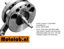 Krukas BSA DB & DBD GoldStar N.E.B. Geassembleerd en gericht