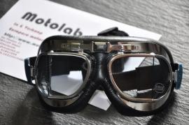 "Motorbril ""nostalgisch"" Chroom"