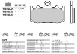 Remblokken BMW R850 RT ABS | R1200 R/GS  FRONT Brembo  07BB2607