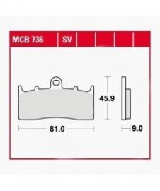 Remblokken BMW R850 R1150 R/GS  K1600 FRONT TRW/Lucas MCB736