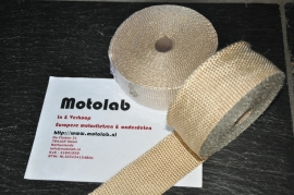 Exhaust wrap | uitlaat Tape 10M Beige | Sand o.a. Caféracers , Scramblers