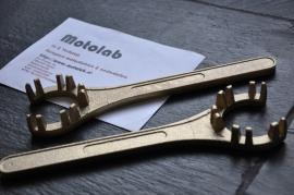 Uitlaat wartel / moer sleutel Bronzen uitvoering