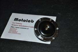 Toeter 12V Chroom/Zwart 110mm