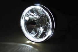 5 3/4 Inch Koplamp HELDER Zwart zij bevestiging! H4 E-keur LED parkeer
