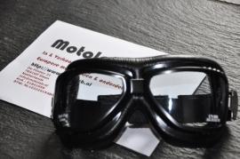 "Motorbril ""roadhawk"" zwart"