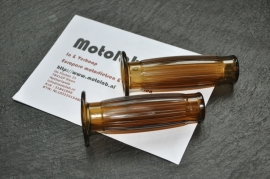 Bruine Handvat rubbers | Handlebar grips 22mm - Beston