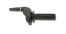 Gashandvat SET Domino | Tommaselli  2122.03 haakse overbenging zwart 22mm