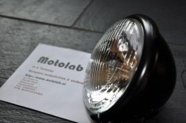 5 3/4  Inch koplamp H4 Mat zwart o.a. Scrambler | Caféracer |  E-keur