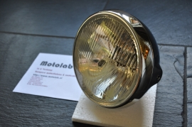7 Inch koplamp Chroom Zij bevest | Britisch style | H4 | E-keur