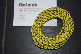 Bougiekabel Geel/Zwart braided cloth