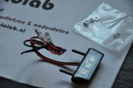 Nummerplaat verlichting Zwart LED 42mm