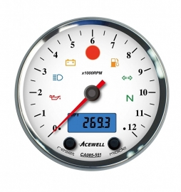 Acewell  Serie CA085  Toeren-Teller Witte wijzerplaat