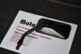 strakke en lage Mat zwarte spiegel agila M10