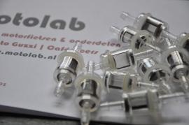 Benzinefilter  Plexiglas Karcoma 6mm aansl.