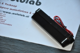Nummerplaat verlichting Zwart LED 110mm breed