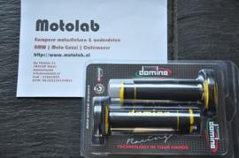 Domino | Tommaselli Handvatrubber SET 22mm Zwart/Geel 118mm lang