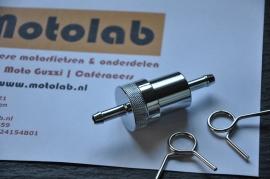 Benzinefilter Metaal & Bronzen filter  6mm aansluiting