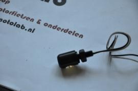 Nummerplaat verlichting Zwart LED 13mm M6
