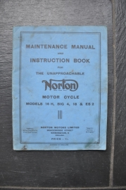 Norton Maintenance Manual and Instruction Book Origineel