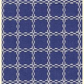 Beiersbont fel blauw met wit