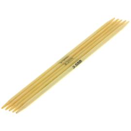 Breinaalden zonder knop bamboe dikte 3,5 - 20cm