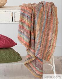 Azteca Stoere deken met kabels