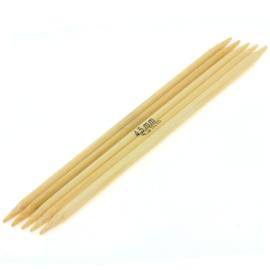 Breinaalden zonder knop bamboe dikte 4,5 - 20cm
