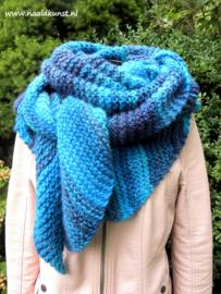 Omslagdoek/sjaal  Ribbels Azteca