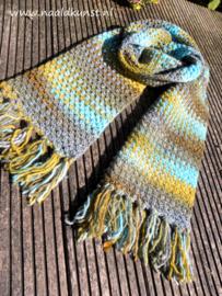 Azteca sjaal Graniet