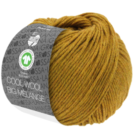 Cool Wool Big Mélange 343/214 Oker  (nog 3 bollen, daarna levering eind Januari)