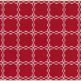 Beiersbont rood met wit
