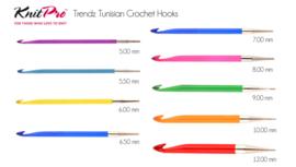 Knitpro Trendz Tunische haaknaald dikte 10 (zonder draad!)