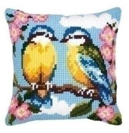 x- steek kussen 008738 Twee vogels*