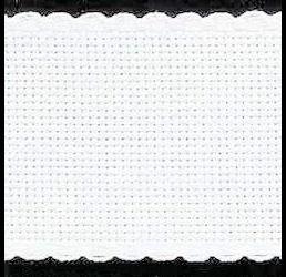 Aidaband wit 10 cm breed 5,4 kruisjes per cm
